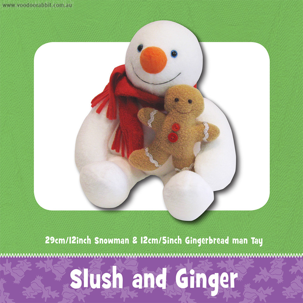 Slush the Snowman (and Ginger) Soft Toy Sewing Pattern by Funky Friends Factory