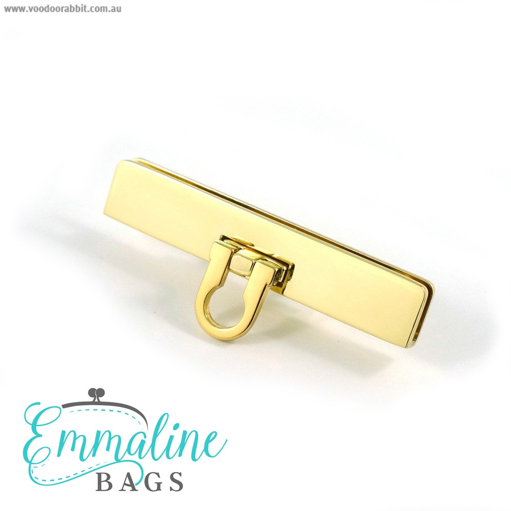 Emmaline Bags Small Bar Lock with Flip Closure Gold