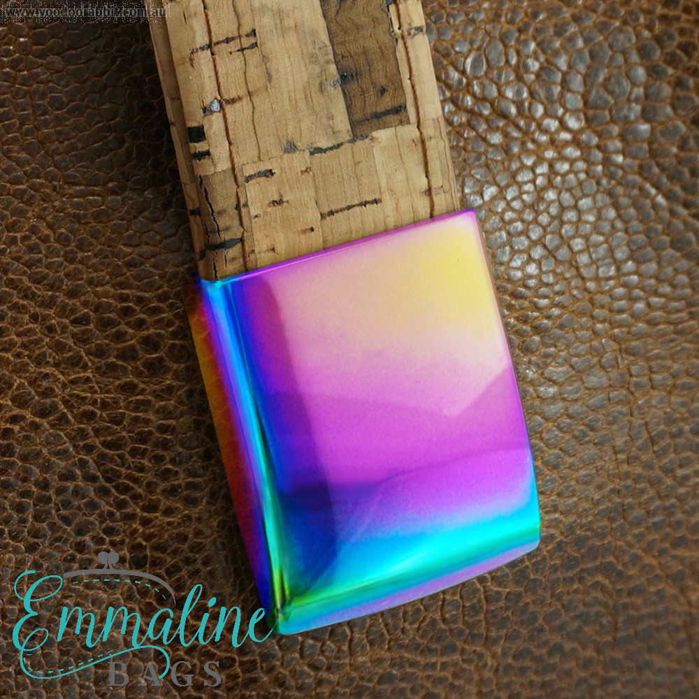 """Emmaline Bags Easy Strap Anchor 25mm (1"""") Iridescent Rainbow (4 pack)"""