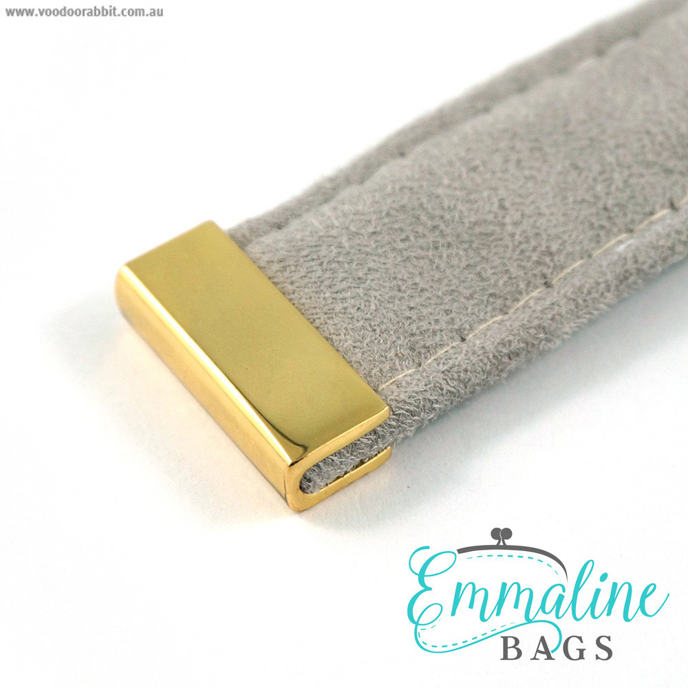 "Emmaline Bags Strap End Cap Rectangular 25mm (1"") Gold - 4pk"