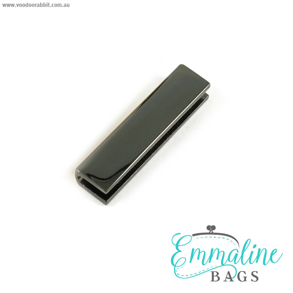 "Emmaline Bags Strap End Cap Rectangular 40mm (1-1/2"") Gunmetal - 4pk"