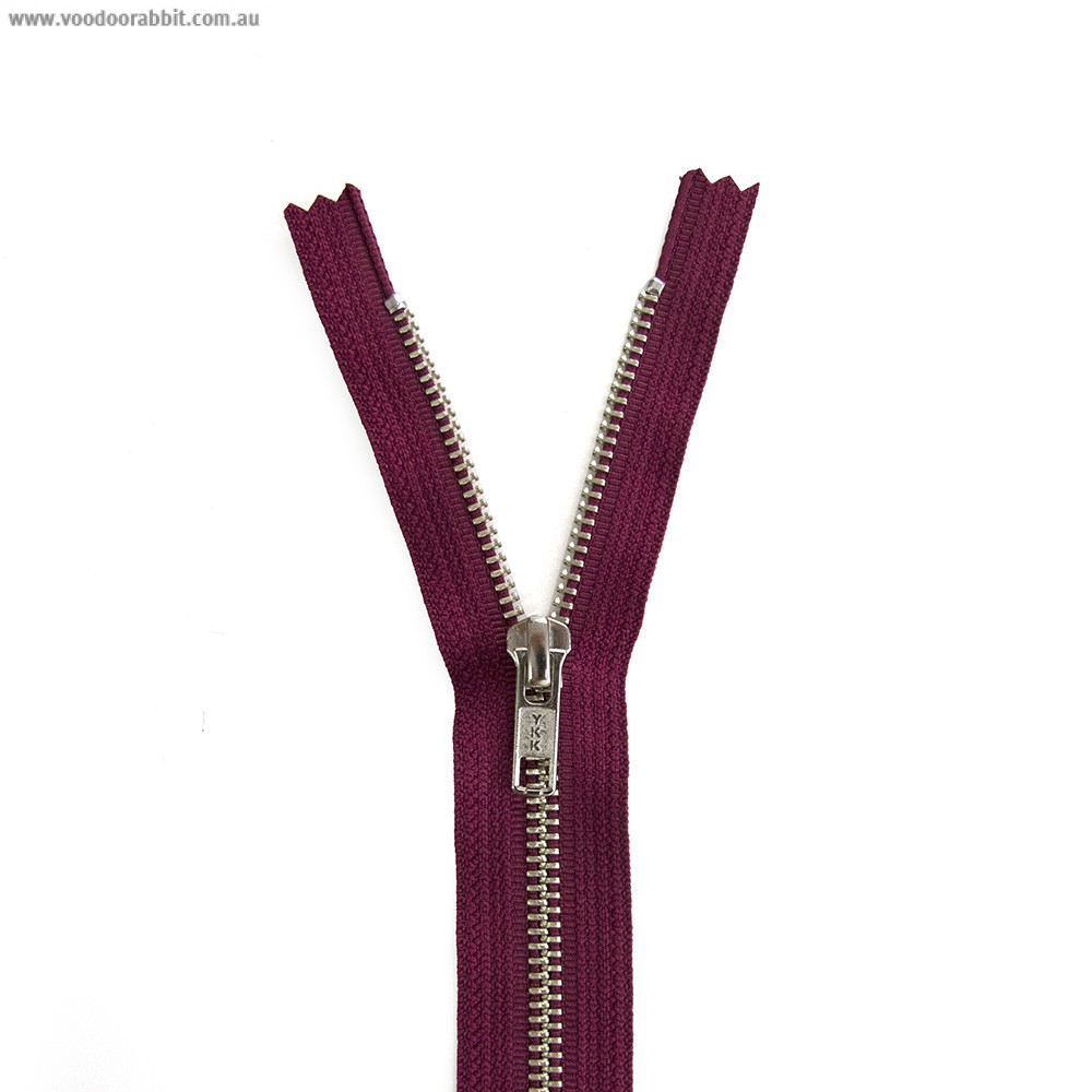 Ykk Metal Zipper Burgundy 14 Quot 22 Quot By Riley Blake Designs