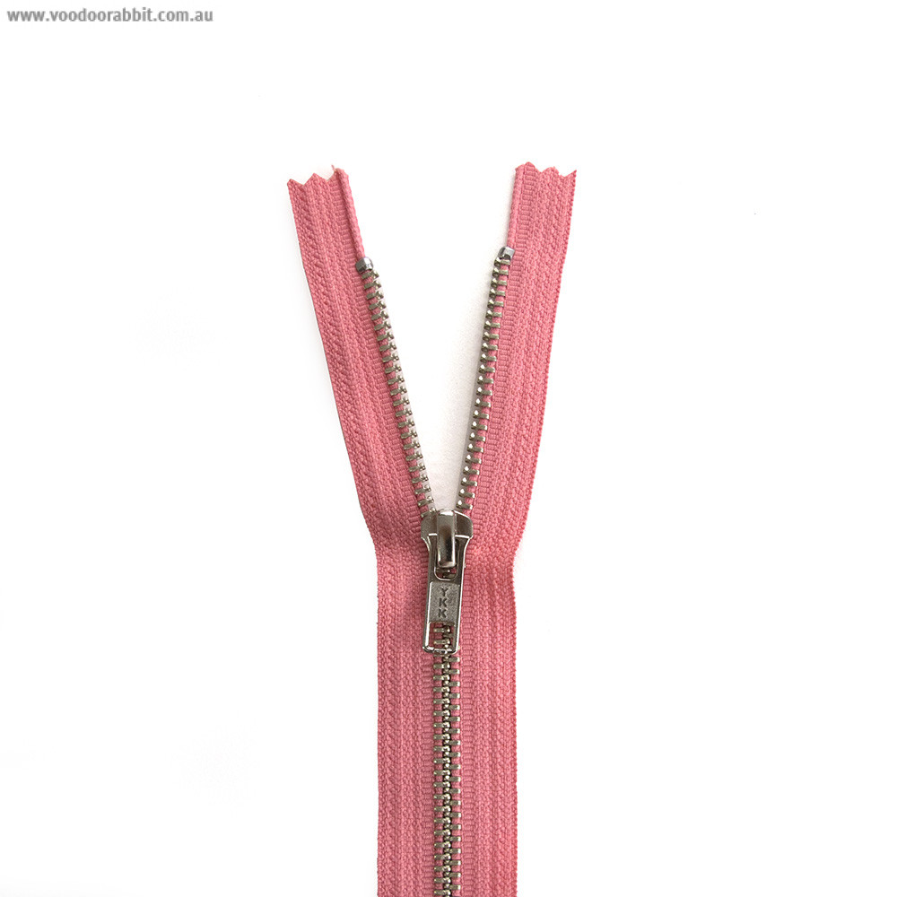 Ykk Metal Zipper Coral 14 Quot 22 Quot By Riley Blake Designs