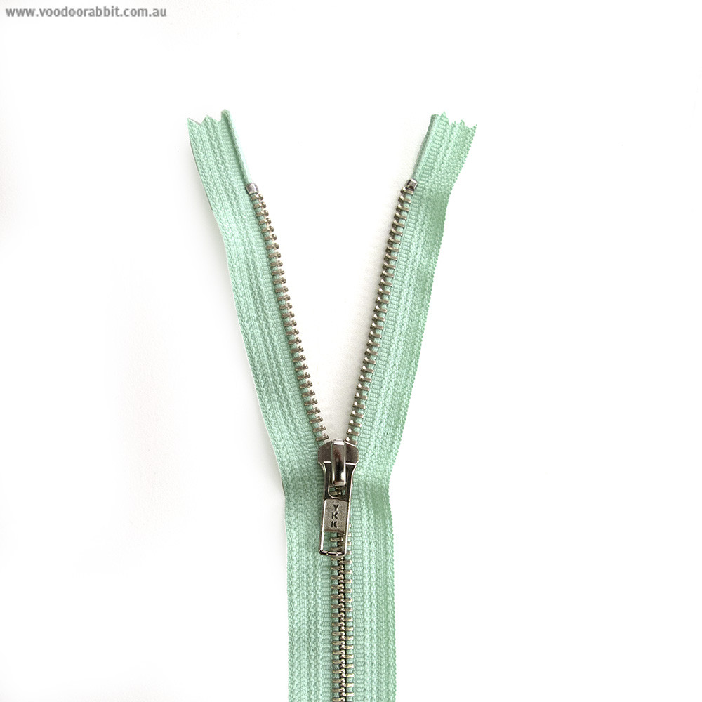 Ykk Metal Zipper Mint Green 14 Quot 22 Quot By Riley Blake