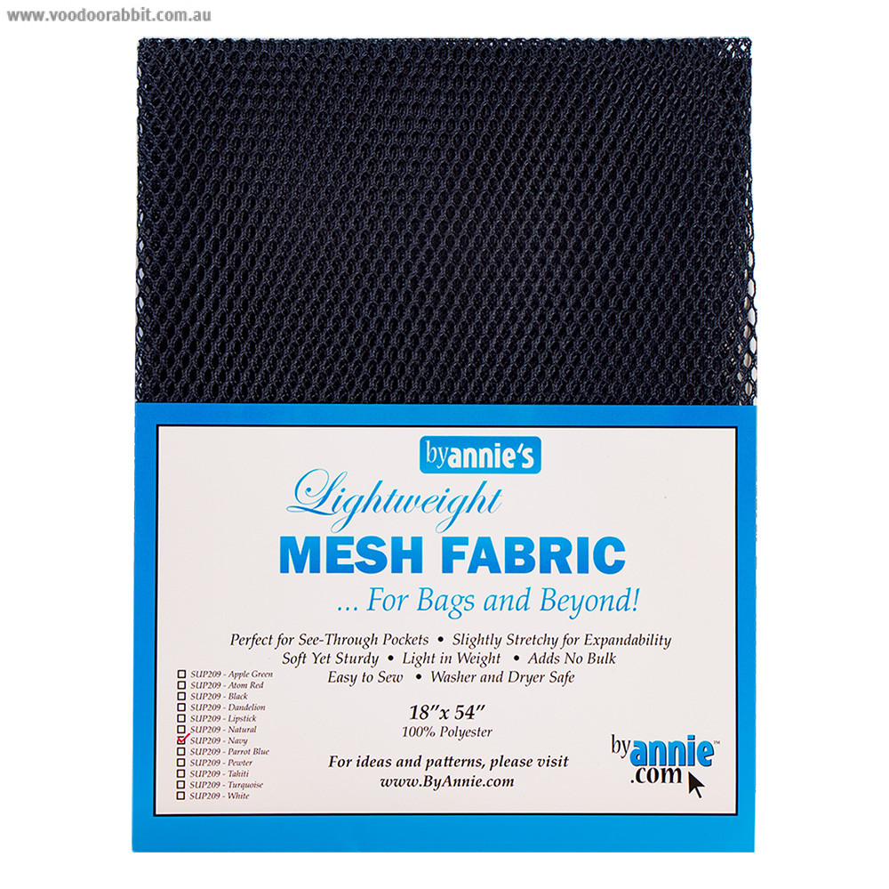 Mesh Fabric Light Weight - Navy Blue from by Annie