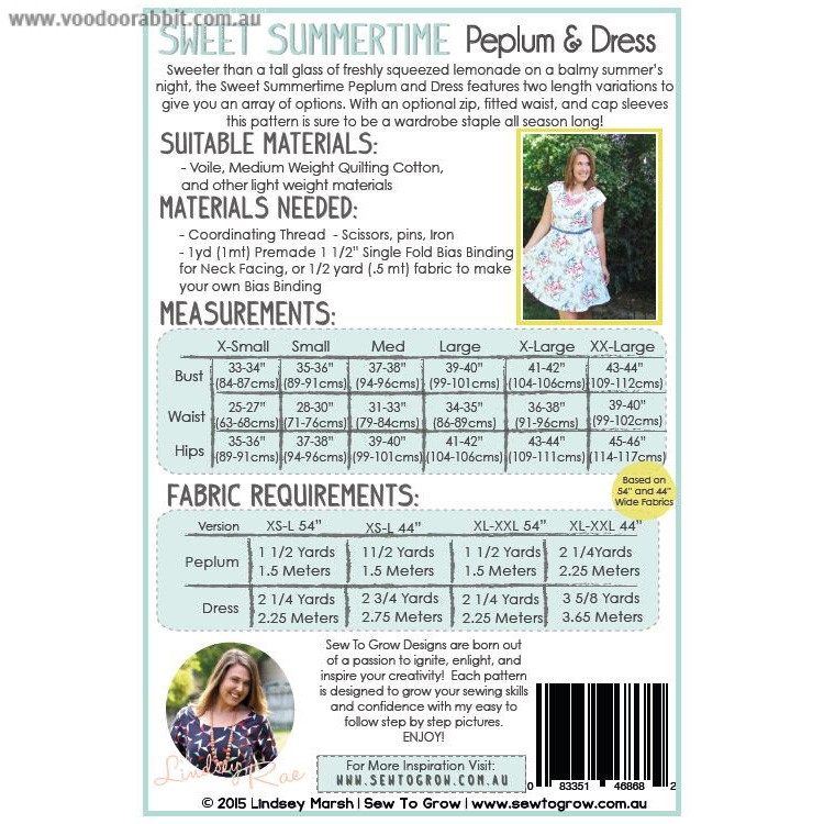 Sweet Summertime Peplum & Dress Sewing Pattern by Sew To Grow