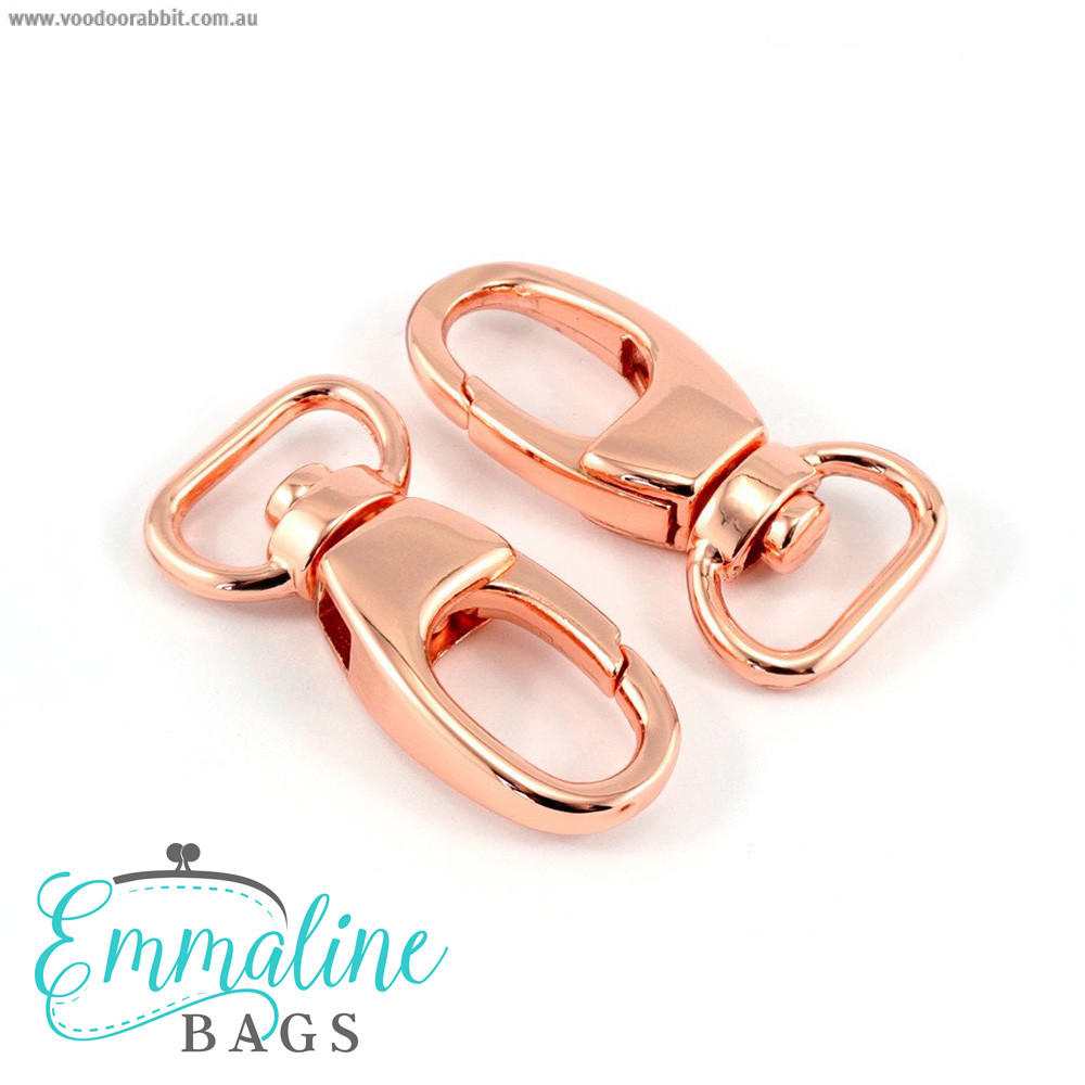 "Emmaline Bags Swivel Snap Hooks 12mm (½"") Copper (Rose Gold) - 2pk"