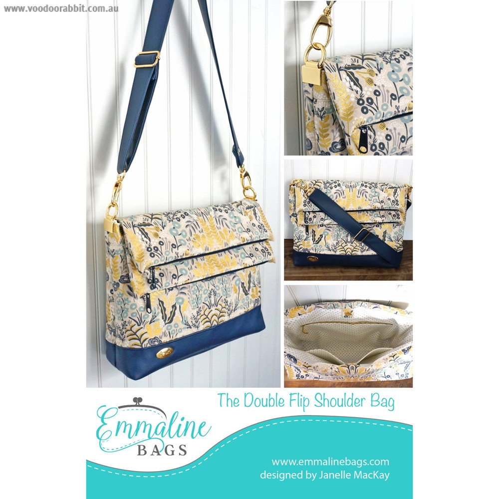 The Double Flip Shoulder Bag Sewing Pattern by Emmaline Bags