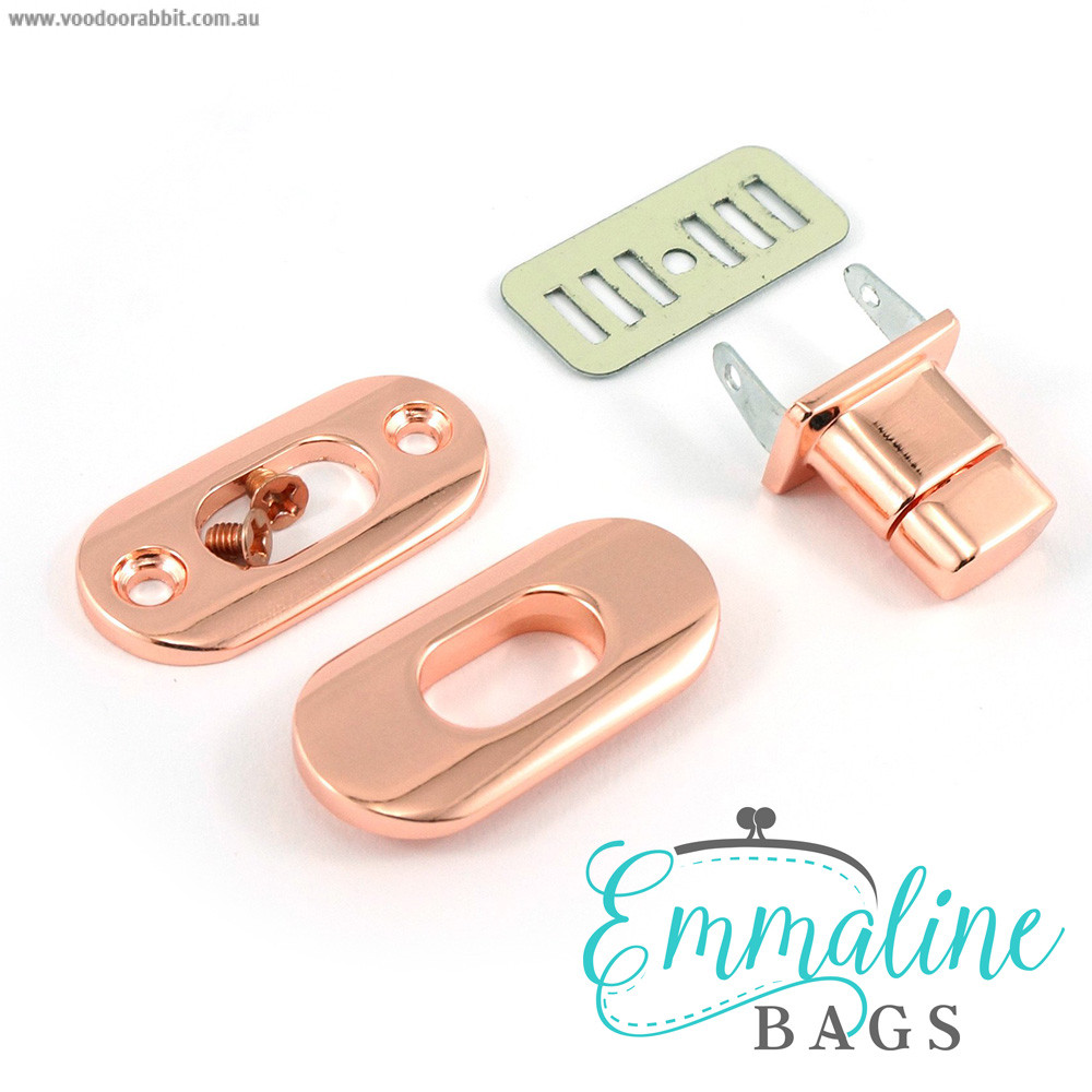 Emmaline Bags Twist Lock w/Screws Copper (Rose Gold)