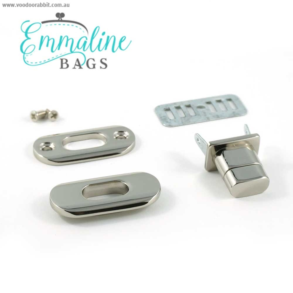 Emmaline Bags Twist Lock w/Screws Silver