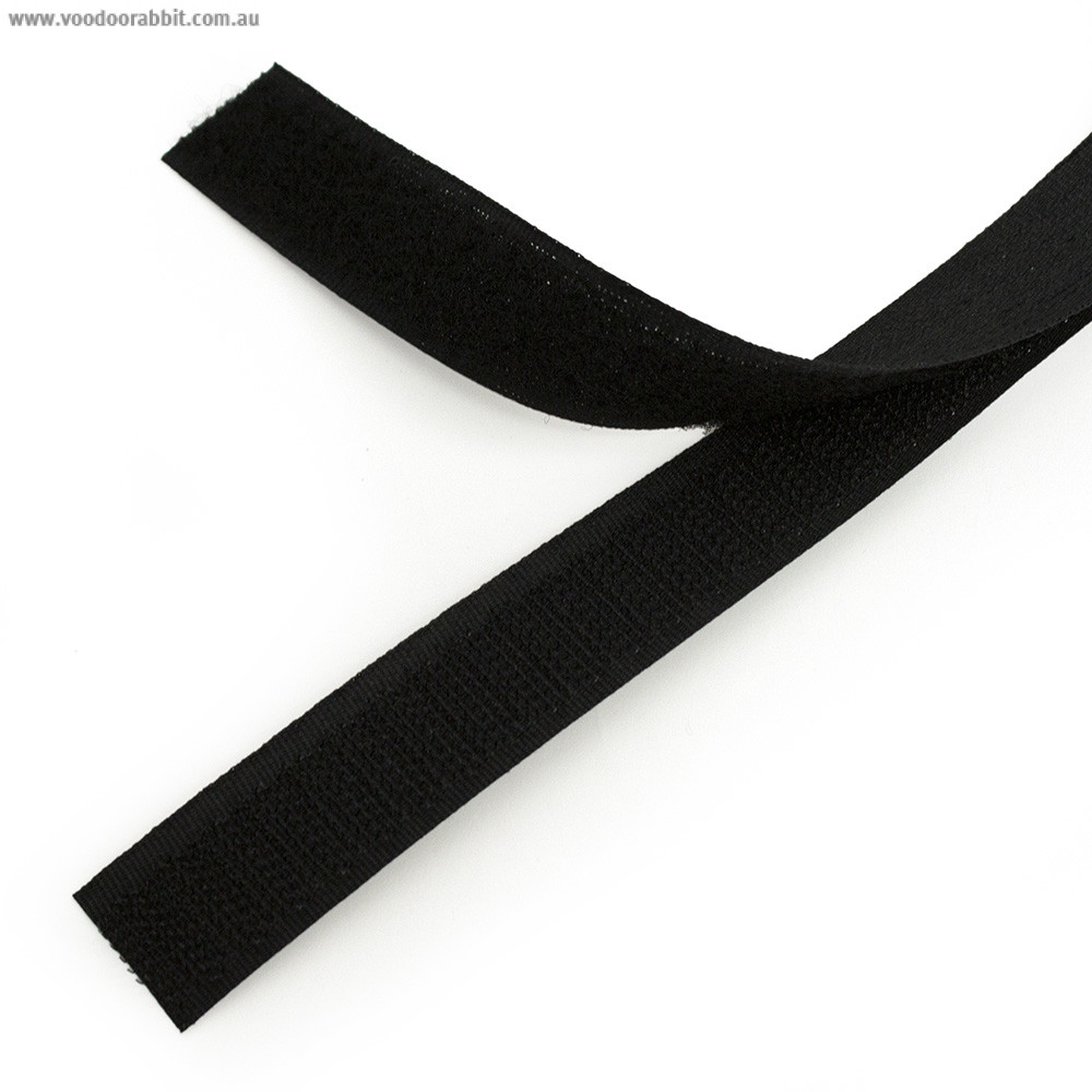Sew on Hook and Loop (Velcro) Tape Black
