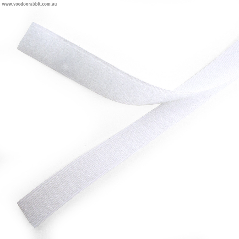Sew on Hook and Loop (Velcro) Tape White