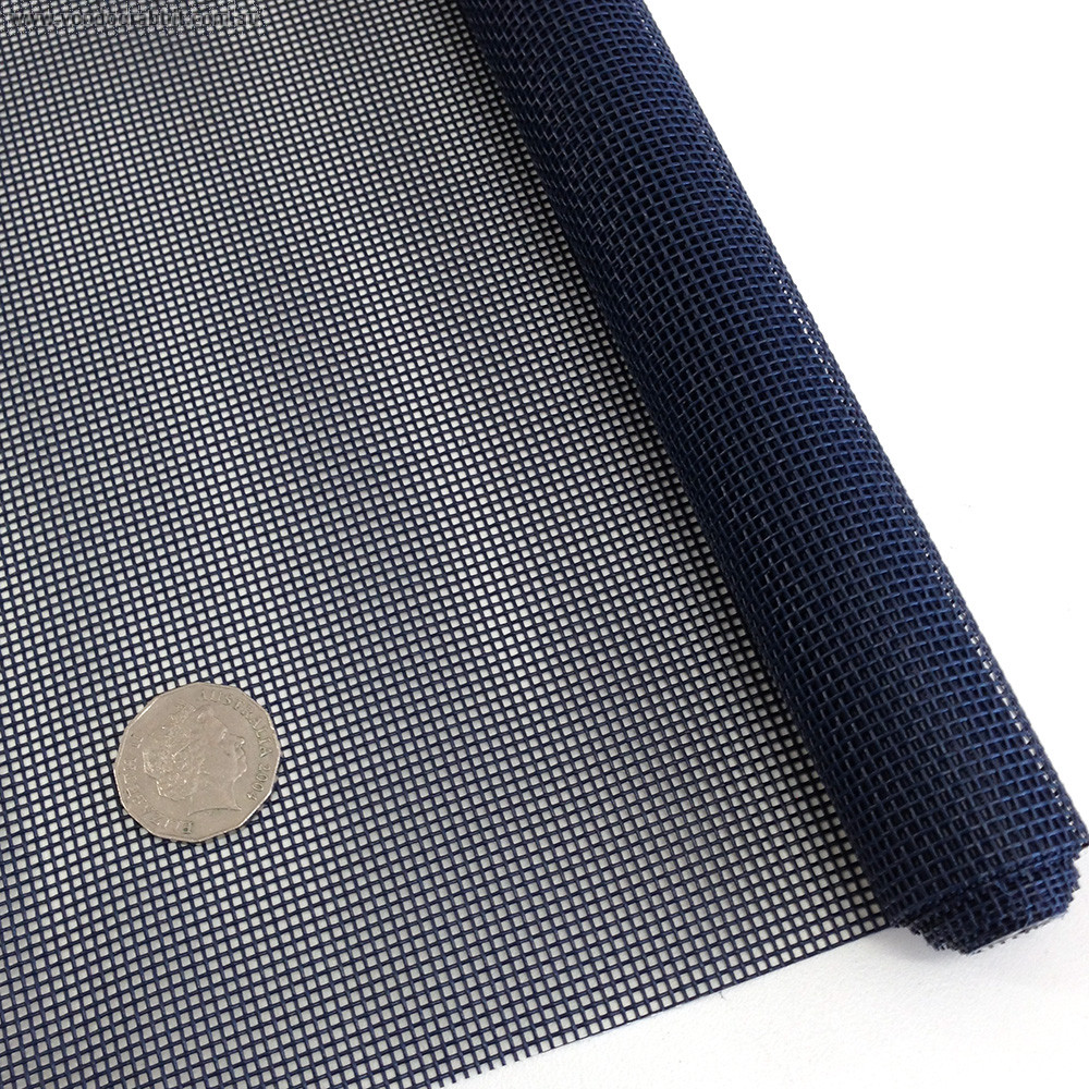 "Vinyl Bag Mesh 18"" x 36"" (46cm x 91.5cm) - Navy Blue"