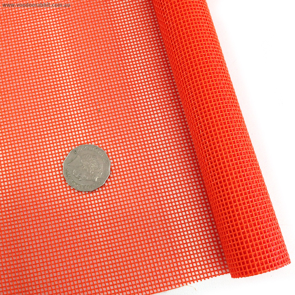"Vinyl Bag Mesh 18"" x 36"" (46cm x 91.5cm) - Orange"