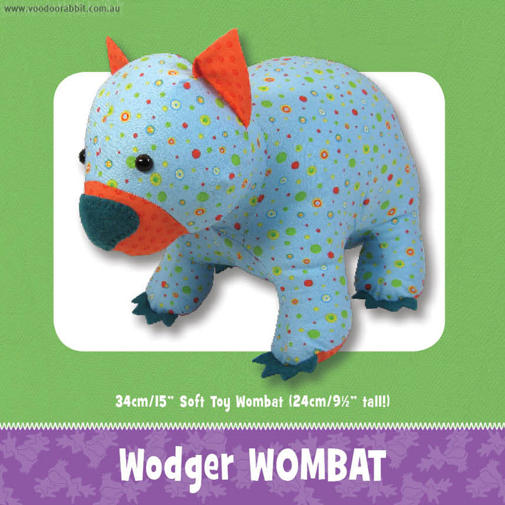 Wodger Wombat Soft Toy Pattern by Funky Friends Factory