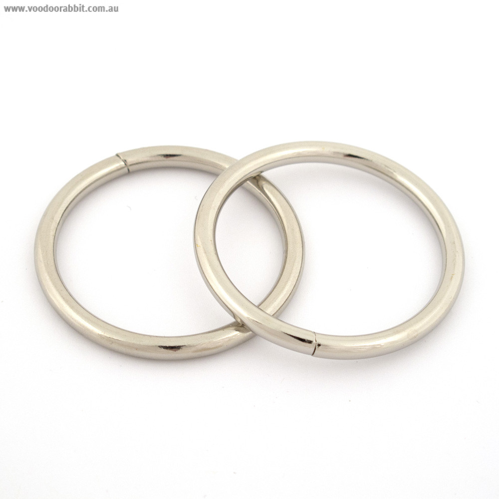 Wire O-Ring 40mm Silver – 4pk | Alternative cool funky online Fabric ...