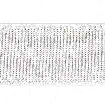 "Birch Creative Ribbed Non Roll Elastic 50mm (2"") Wide White"