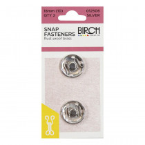 Birch Creative Press Studs - 18mm (size 10) - 2 sets Silver
