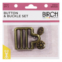 Birch Creative Button and Buckle Set Bronze