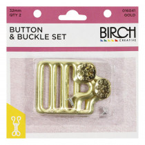 Birch Creative Button and Buckle Set Gold