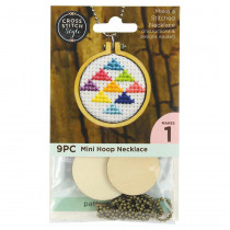 Cross Stitch Style Cross Stitch Embroidery Hoop - Necklace