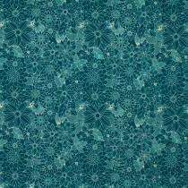 Floral Pets Sigrid Turquoise by Blend Fabric
