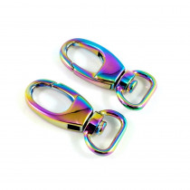 "Emmaline Bags Swivel Snap Hooks 12mm (½"") Iridescent Rainbow - 2pk"