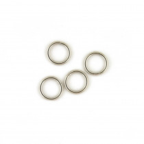"Voodoo Bag Hardware Wire O-Ring 12mm (1/2"") Silver - 4pk"