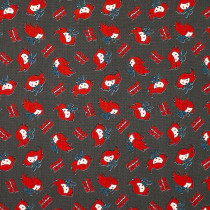 Marvel Kawaii Collection Black Widow Grey by Camelot Fabrics