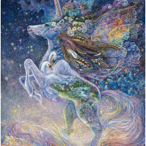 "Celestial Journey Unicorn 37.5"" (95cm) Fabric Panel Multi by 3 Wishes Fabric"