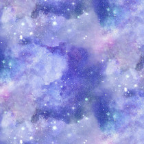 Magical Galaxy Quora Sky Purple by 3 Wishes Fabric