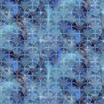 Magical Galaxy Nautical Twilight Glitter Turquoise by 3 Wishes Fabric