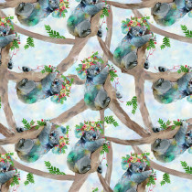 Party Animals Koala Bears Turquoise by 3 Wishes Fabric
