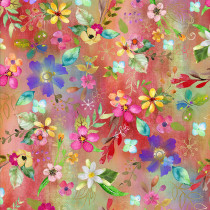 Party Animals Allover Floral Multi by 3 Wishes Fabric