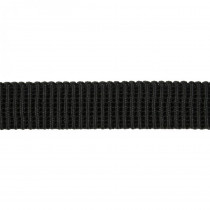 "Birch Creative Ribbed Non Roll Elastic 20mm (3/4"") Wide Black"