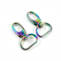 "Emmaline Bags Swivel Snap Hook 20mm (3/4"") Iridescent Rainbow - 2pk"