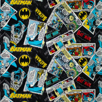 Batman 80 Anniversary Collection Batman Collage Black by Camelot Fabrics