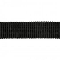 "Birch Creative Ribbed Non Roll Elastic 25mm (1"") Wide Black"