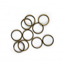 """Split Rings 25mm (1"""") / Antique Brass 10pk"""