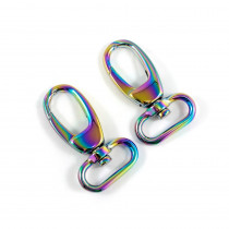 "Emmaline Bags Swivel Snap Hook 25mm (1"") Iridescent Rainbow - 2pk"