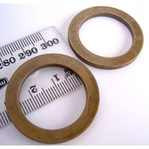 "Voodoo Bag Hardware Flat O-Rings 25mm (1"") Antique Brass - 4pk"
