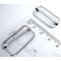 "Voodoo Bag Hardware Slide Adjusters 25mm (1"") Silver - 4pk"