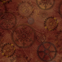 Steampunk Halloween Gears Brown by Quilting Treasures
