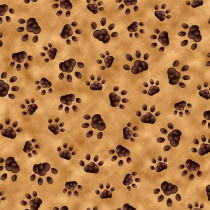Literary Kitties Paw Prints Camel by Quilting Treasures