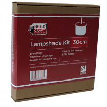 CYLINDER/DRUM Shaped Professional Lampshade Making Kit 30cm (base not included)