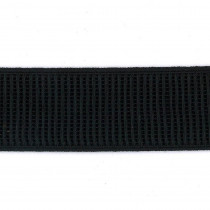"Birch Creative Ribbed Non Roll Elastic 33mm (1-1/4"") Wide Black"