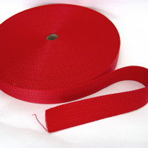 "Polypropylene Webbing - 38mm (1-1/2"") Red"