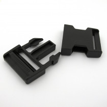 Plastic Buckle 40mm (1-1/2) Black – 2pk