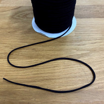 "3mm (1/8"") Round String Elastic Black"