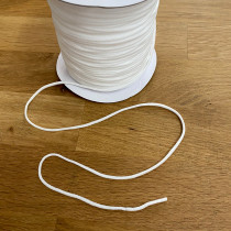 "3mm (1/8"") Round String Elastic White"